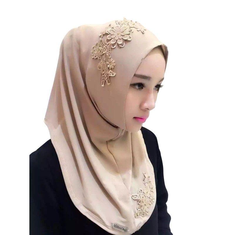 Compre Musulmán Interior Hijab Gorras Mujeres Estilo Turbante Modal ... d06f51467ec