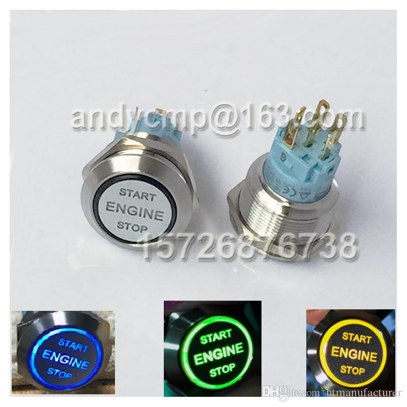 12V SG 22mm Starter Momentary Switch/Metal Push Button for Car Boat Horn Other Electrical Switches