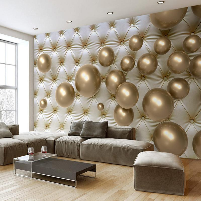 3D Wallpaper Modern Art Abstract Mural Golden Ball Soft Back Photo Wallpaper  Living Room Home Decor Fashion Interior 3D Backdrop Wallpapers In Hd  Wallpapers ...
