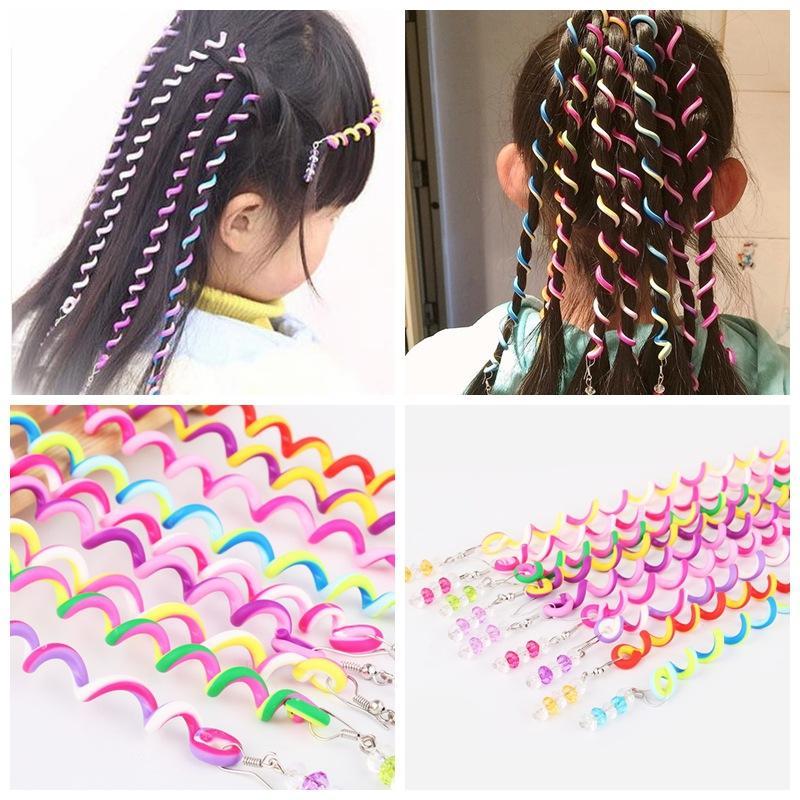 2019 Kids Curler Hair Braid Hair Sticker Kids Girl