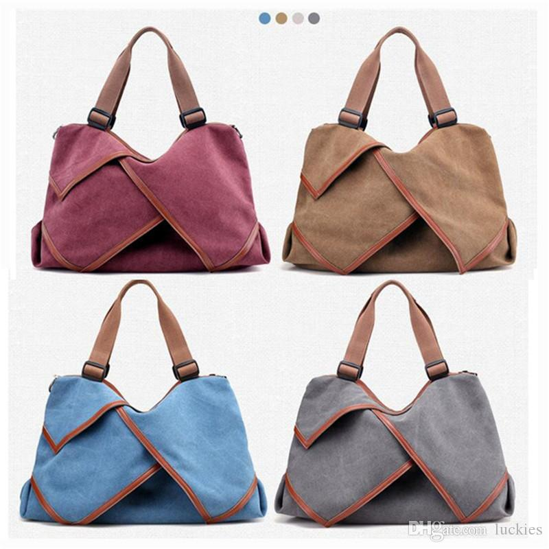 4727702010469 Women Casual Canvas Shoulder Bag Large Capacity Casual Hobo Style Tote Bag  Handbag Canvas Travel Bag 0335 Evening Bags Leather Backpacks From Luckies,  ...