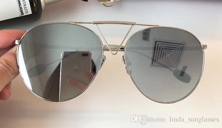 2018 hombres marcos de madera de la vendimia SLIVE oro de las gafas de madera medio borde de las lentes de sol plateado Santos en caja numC0186