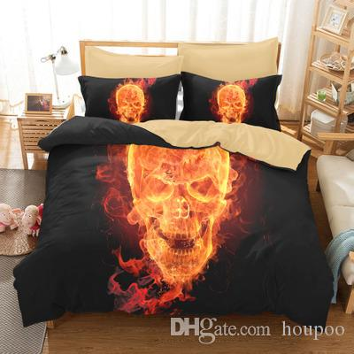 Bulk Lots 3 Styles Skull 3D Printed Twin~King Size Bedding Sets Bed Sheets Queen Bedding Sets King Size Comforter Set