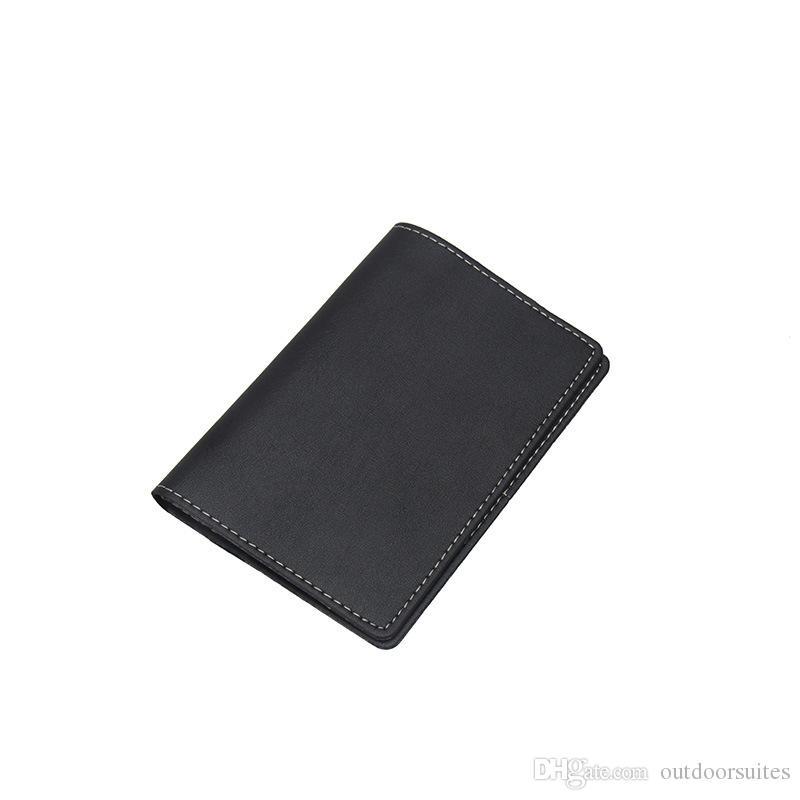 Echtes Leder Einfache Reisepass Travel Passport Case Schutzhülle für ID Kreditkarten Tickets Geld Reisen Zubehör