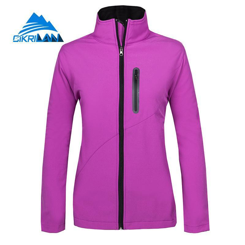 635d5d6a5 2019 New Water Resistant Windstopper Sport Fishing Hiking Softshell Outdoor  Jacket Women Camping Coat Fleece Liner Chaquetas Mujer Y1893006 From  Shenping03, ...