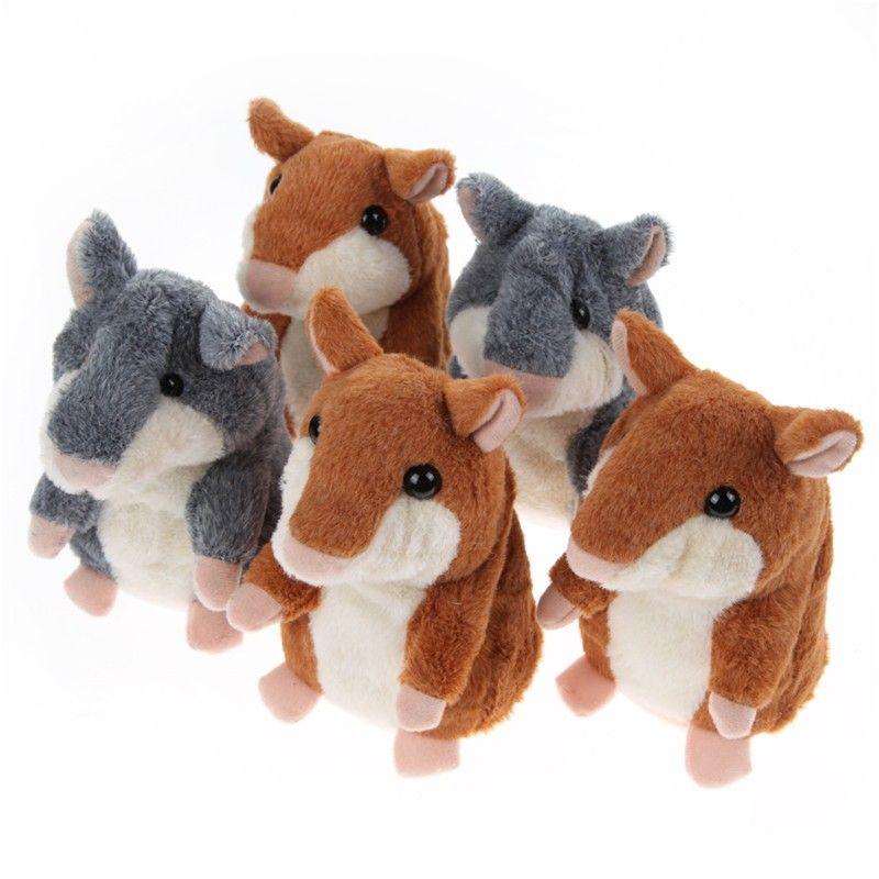 Lovely Talking Hamster donkey Plush Toy Sound Record Speaking Hamster  Talking Toys for Children 2018 new fashion