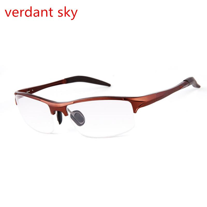 1acad7b86b1 2019 2017 New Myopia Glasses Frame Men Magnesium Alloy Business Plain  Mirror Spring Hinge Can Filled With Prescription Original Box From  Htiancai