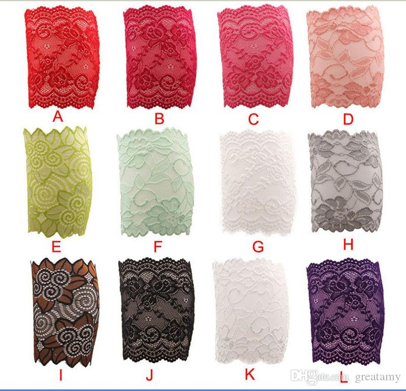 Pattern lace stockings Europe and America stretch lace 15cm width foot cover boots set boot cuffs