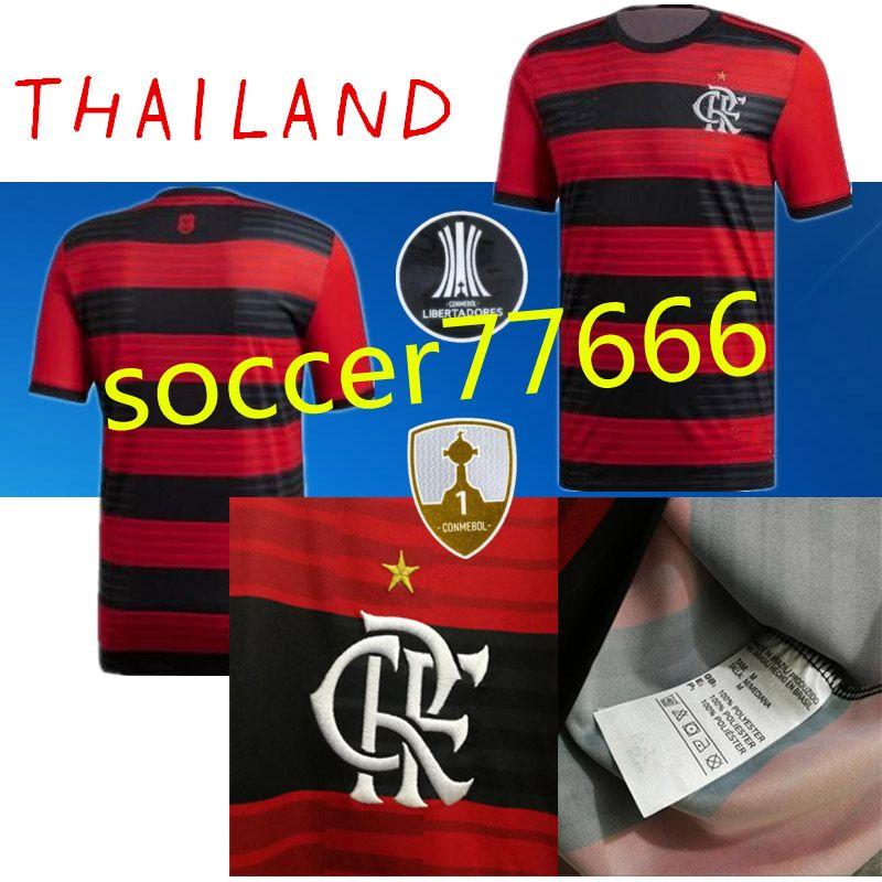 e8ab3dfb60b30 NUEVO 18 19 Camisetas De Fútbol Flamengo   7 E. Ribeiro   9 GUERRERO   35  DIEGO ZICO   20 VINICIUS JR Maillot De Foot De Calidad Superior FLAMENGO  BRASIL ...