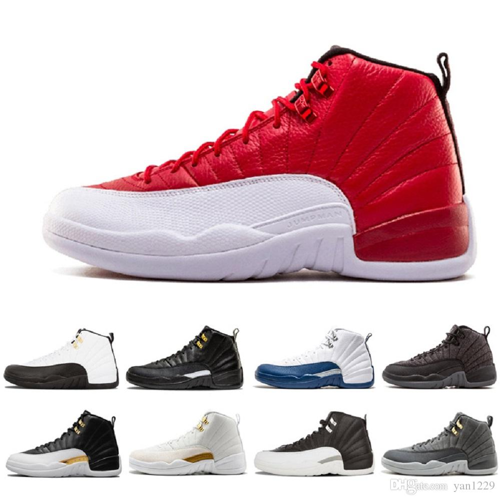 fd0f2f39170b35 2018 High Quality 12 12s Ovo White Gym Red Master Basketball Shoes Men  Women Taxi Blue Suede Flu Game Olive Canvas Sneakers From Yan1229