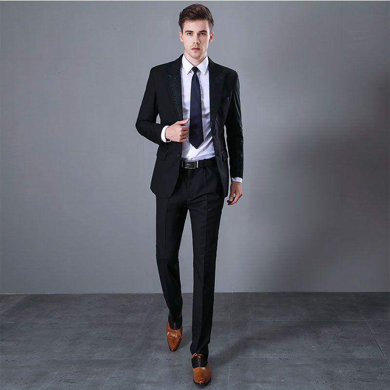 2018 Fashion Men Suit Aractive Party Prom Tuxedo Mens Casual Style Daily  Work Wear Suits Business men s suit (Jacket Pants)