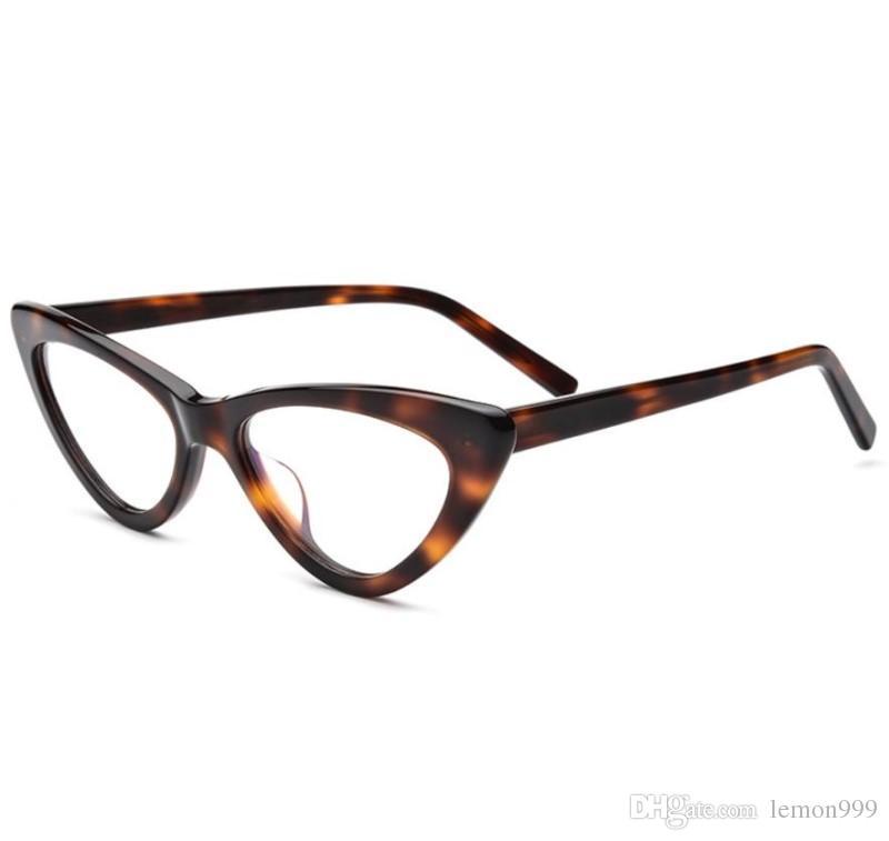2018 Women Eyeglasses Frames Cat Eyes Optical Frames Brand Cateye ...