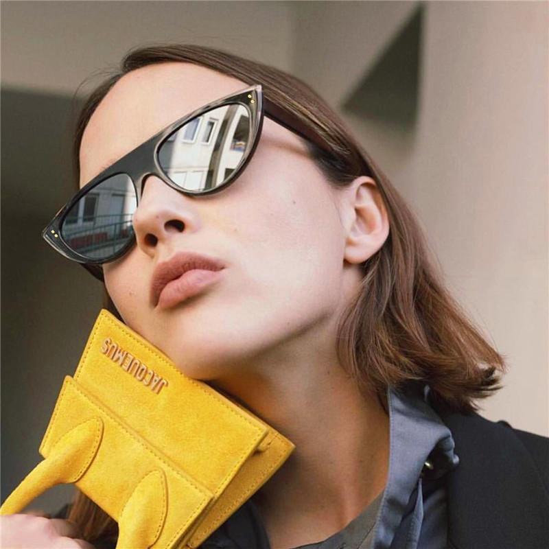 Compre Cortina Moda Barato Cat Eye Sunglasses Mulheres 2018 Preto Espelhado  Óculos De Sol Para O Sexo Feminino Retro Vintage Oculos De Sol Feminino De  ... 6a8cf65cfe