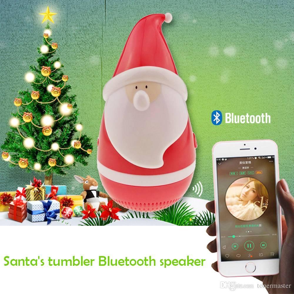 2018 Portable Mini Tumbler Santa Claus Wireless Bluetooth Music ...
