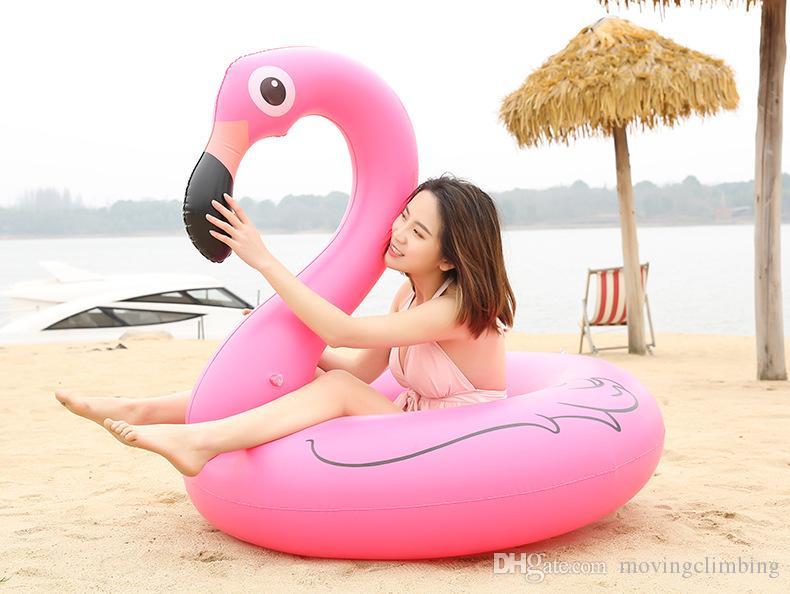 풍선 플라밍고 풀 플로트 완구 120cm 남자와 여자 수영 반지 원형 파티 장식 비치 워터 파티 장난감
