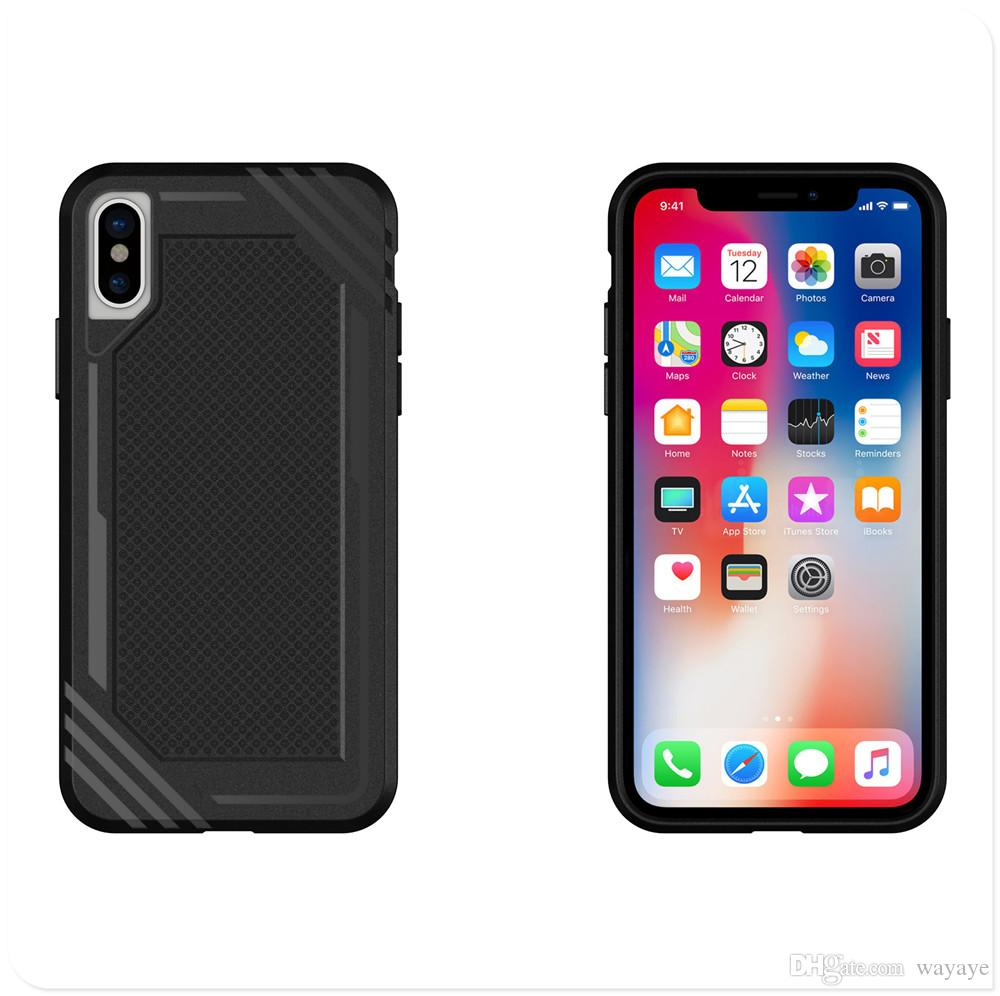 TPU HYT Phone Case for iPhone 6 7 8 Plus iPhone X Black Navy Red Gray Color Back Cover