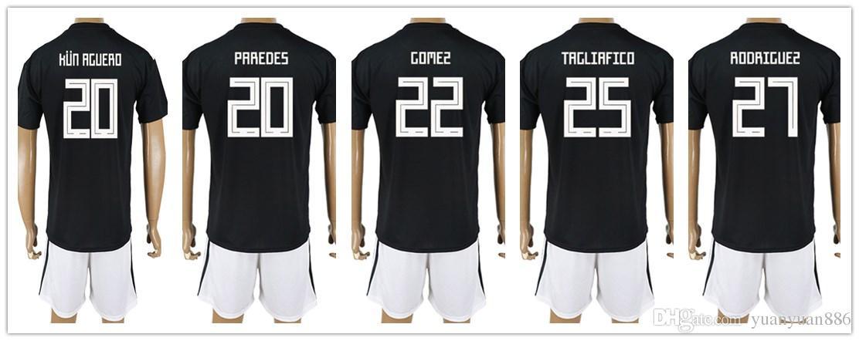 ... wholesale 2018 soccer world cup argentina jersey men 20 paredes 20 kun  aguero 22 gomez 25 5fc6436df