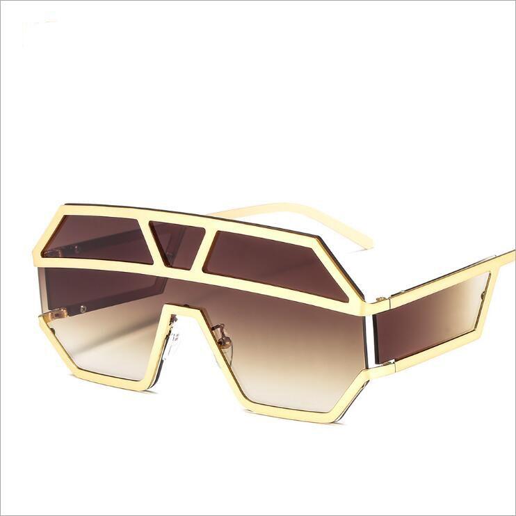 c682550ea1beb New European Style Women Men Oversized Square Sunglasses Conjoined Punk  Alloy Frame Gradient  Clear Lens Glasses Eyewear Oversized Square  Sunglasses ...