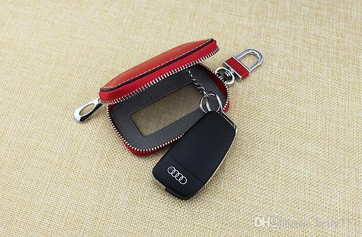 Toptan-10 adet erkek kadın Anahtar Cüzdan Araba anahtar çanta Hakiki Deri Kafatasları moda çanta 401