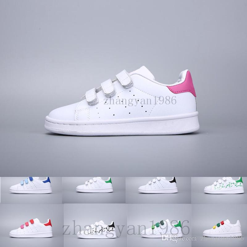 official photos 989a6 14ab3 Compre Adidas Superstar Stan Smith Nueva Llegada Rayas De Cebra Stan  Zapatos Big Kids Niños Y Niña Zapatillas De Moda Casual Sport Cuero Smith  Superestrella ...