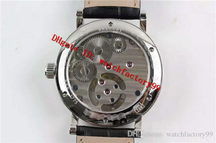 Luxury Brand GRANDES COMPLICIATIONS Series Hand-Winding Tourbillon Movement Men's Watch Silver 316L Stainless Steel Case Sapphire Moon Phase