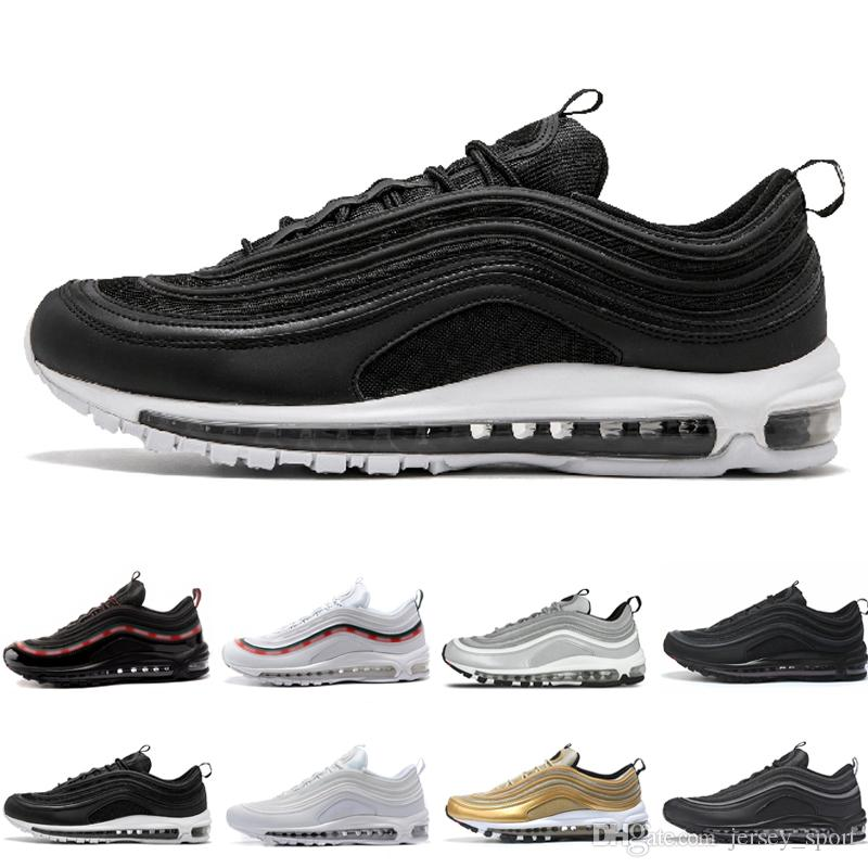 Discount 97 OG QS Tripel White Black Metallic Gold Silver Bullet PRM Mens Running  Trainers Sneakers Shoes Men Women Designer Online with  97.92 Pair on ... c6a06dcfc