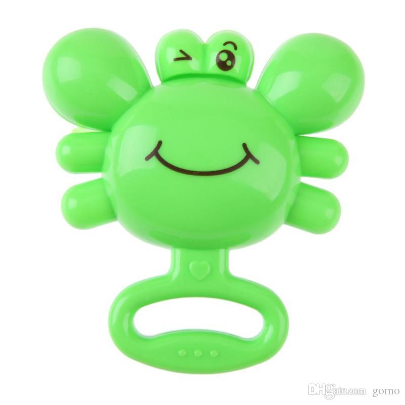 Newborn Baby Infants Rattle Toy Plastic Crab Hand Ring Bell Rattle Grasping Gift Kids Educational Toys For Activity Training