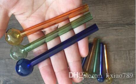 Pyrex Glass oil burner glass pipe percolator bubbler 10cm tube glass pipe oil nail GNMHJ,24354