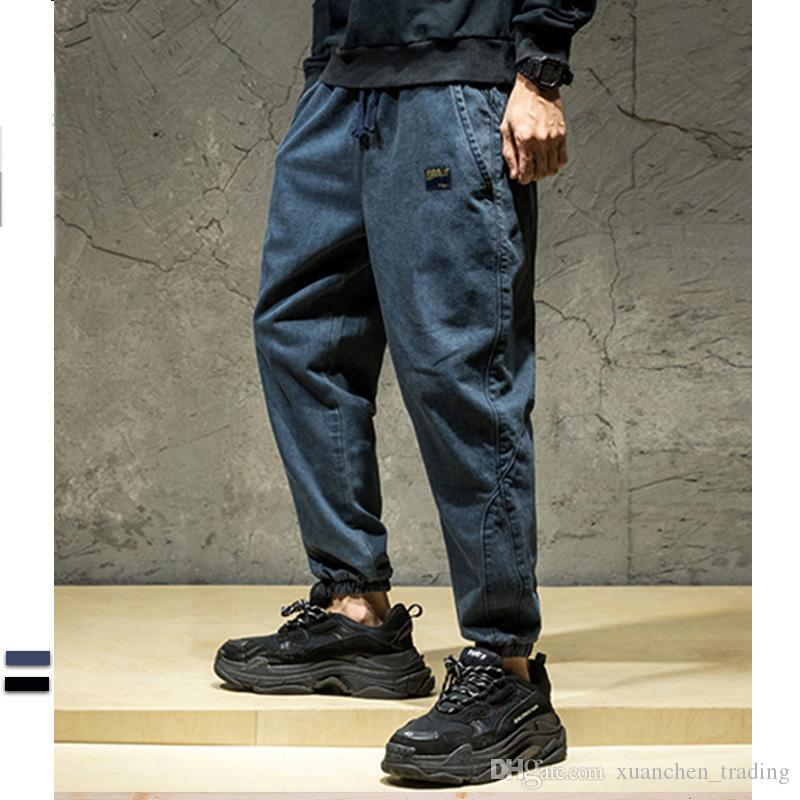 5ff64d70665 2019 Punk Street Style Fashion Mens Jeans Loose Fit Jogger Pants Hip Hop  Jeans Pocket Cargo Pants Trousers Pantalon Hombre Plus Size From  Xuanchen trading