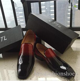 d1aea304953 Red Bottoms Dandelion Flats Black Red Patent Leather Dress Shoes Flats High  Quality Chaussure Femme Mens Shoes Dress Loafers Shoes Size 46