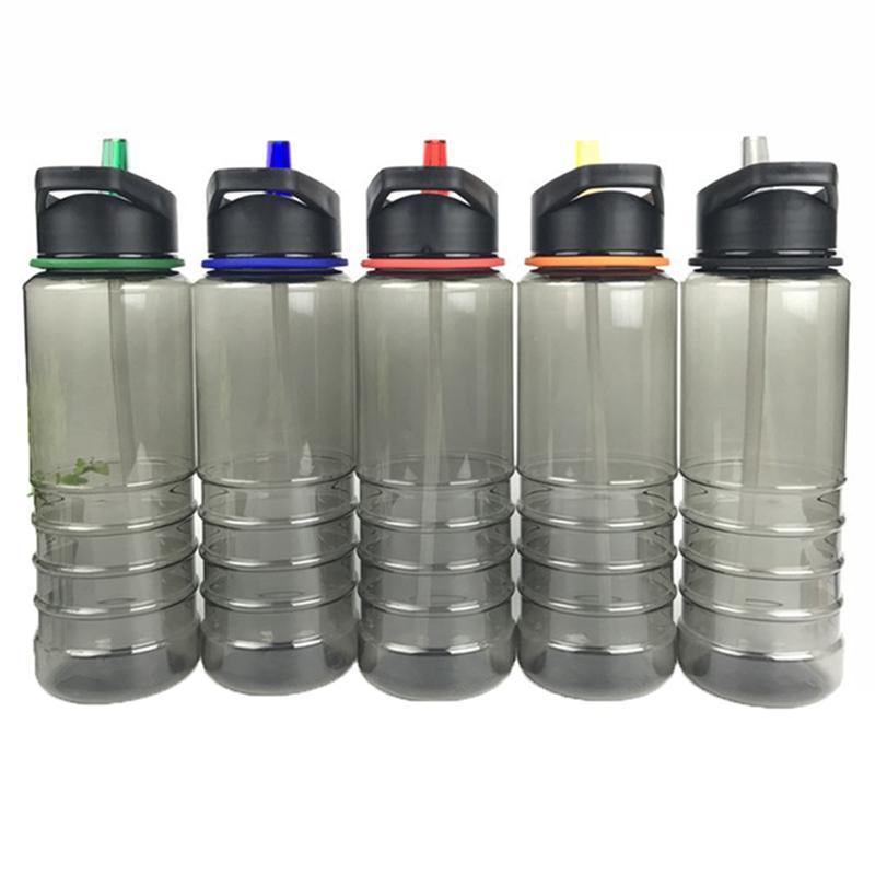 bf812fae3043 Compre Deportes Al Aire Libre Botella Botella De Plástico Escalada Espacio  Copa Bicicleta Flip Top Tapa Bebida Directa Plástico Agua 701 800ml A   33.45 Del ...