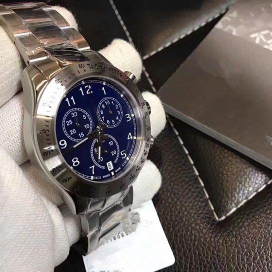 a45506234acb76 Fashion Men s Quartz Watch  Silver Stainless Steel Six-Pin Series ...