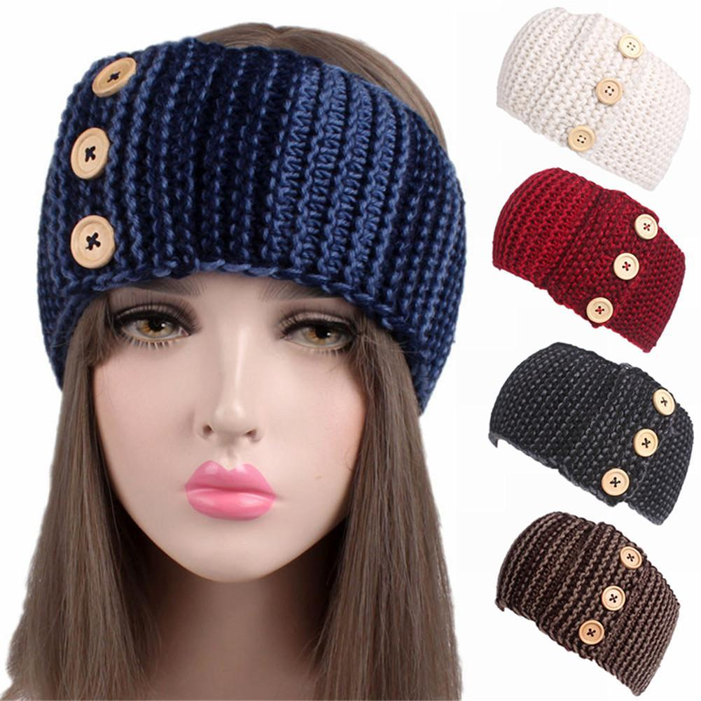 a13938a1941 2019 Winter Adult Crochet Knitted Headbands For Hair Head Band Bomber Hats  Head Wrap Turbante Accessories Women Hats From Nectarine99