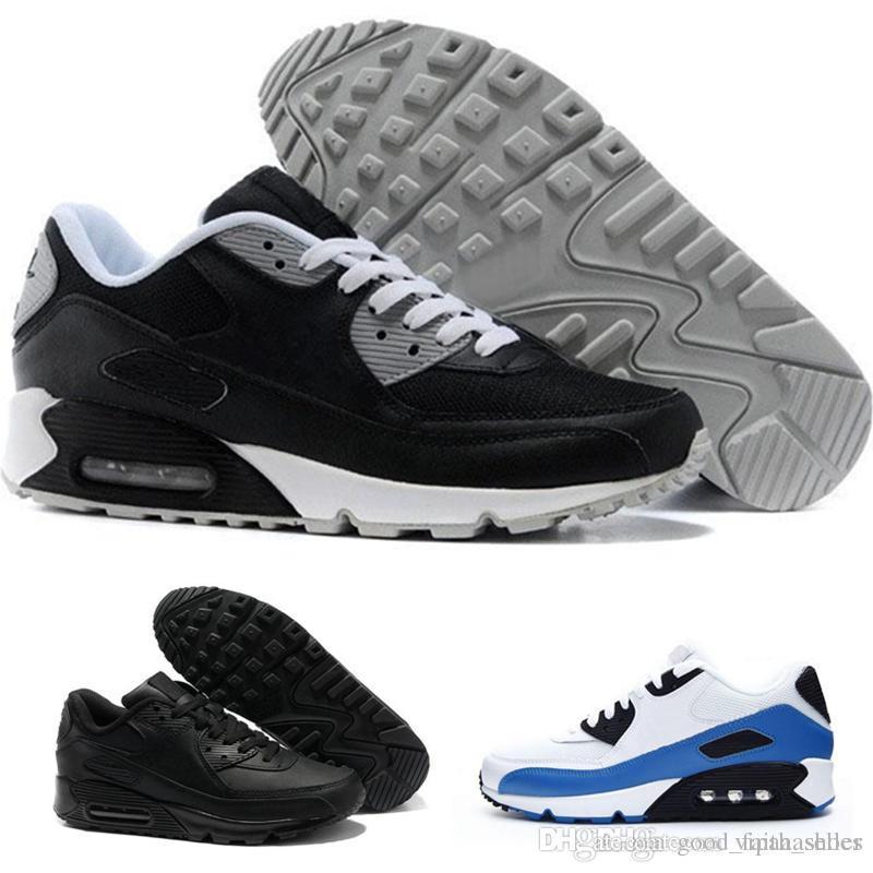 the best attitude 00d5e 296f4 Nike Air Max Alta Calidad Zapatillas De Deporte Para Hombre Zapatos  Clásicos 90 Hombres Zapatillas De Deporte Negro Rojo Blanco Entrenador  Deportivo ...