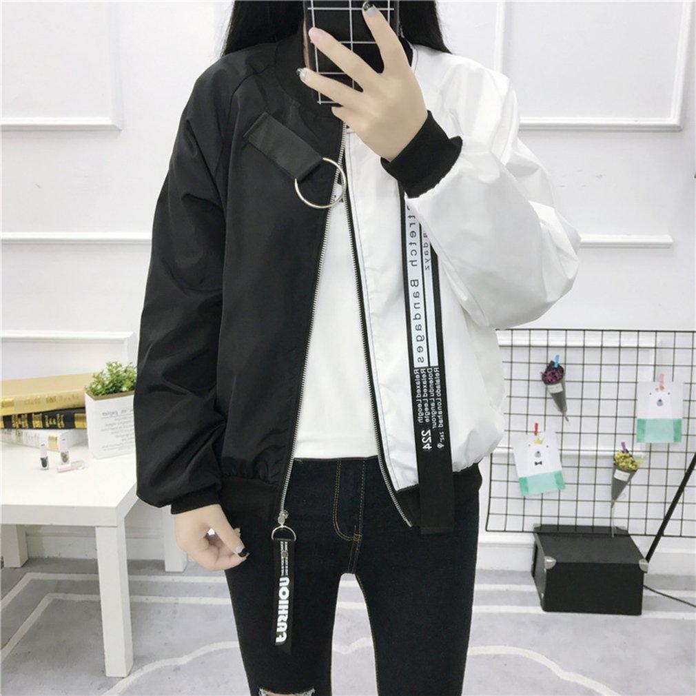 9221ab8f7c5 Plus Size Baseball Jacket Patchwork Korean Style Streetwear Oversize ...