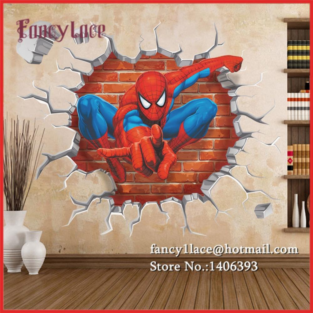 Compre spiderman 3d pegatinas de pared para ni os diy - Pegatinas pared ninos ...