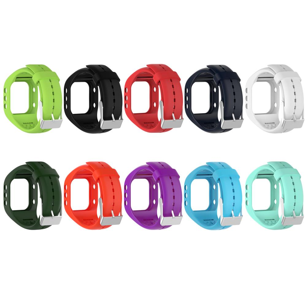 Tragbare Geräte Unterhaltungselektronik Colorful Smartwatch Straps Soft Silicone Watchband Replacement With Metal Buckle For Polar A300 Smart Watch