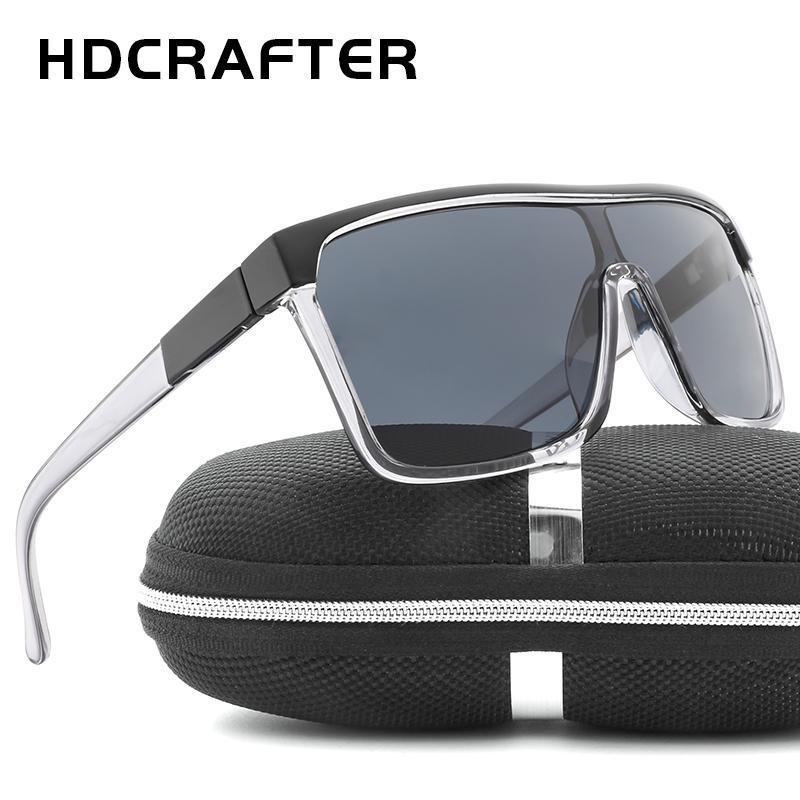 3231824ef66c0c HDCRAFTER Luxury Square Shield Men Sunglasses Driving Male Brand Sun Glasses  For Men Cool Shades Mirror Lens Oculos Brand Sun Glasses Sun Glasses Sun ...
