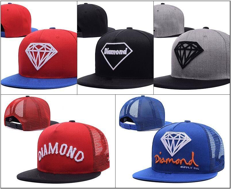 3a4566d42 2018 projeto de malha barato Diamante dos homens mulheres ajustável  casquette bonés de beisebol chapéus de sol hip hop snapback ossos gorras  Chapeu para ...