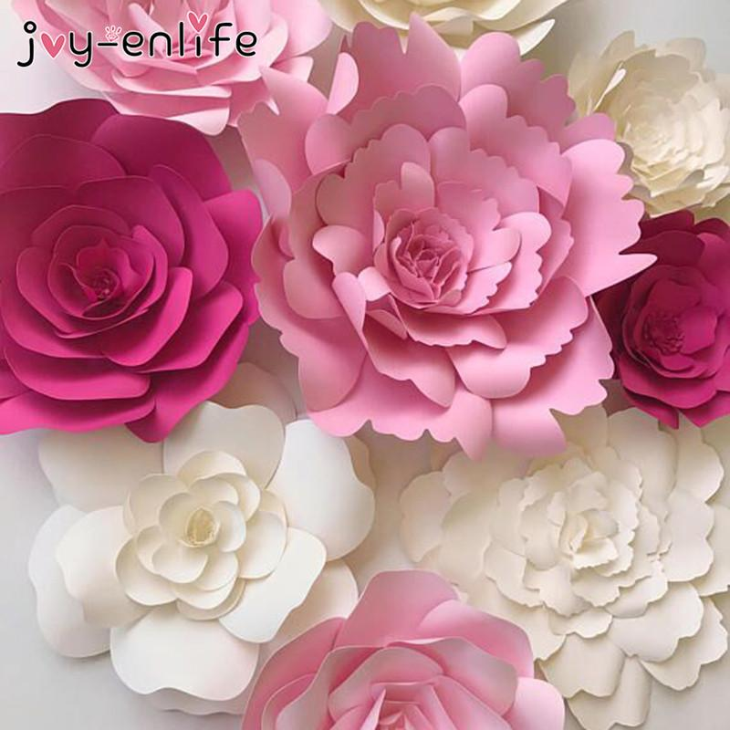 2019 JOY ENLIFE 20cm DIY Paper Flowers Kids Birthday Party Backdrop