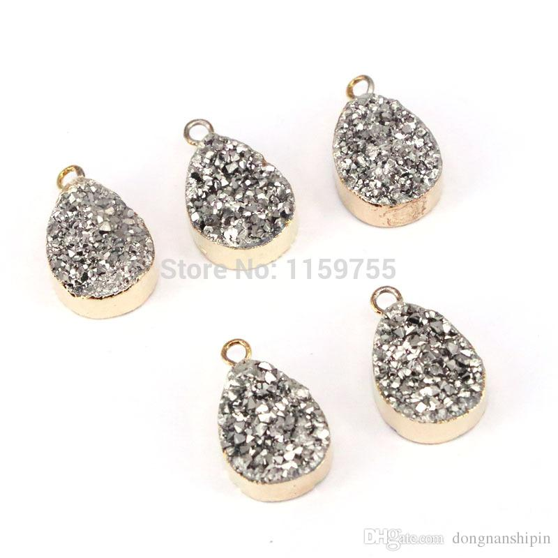 2869dee3a Charm Titanium Quartz Pendants, Water Drop Titanium Gem Stone Pendant Beads  For Jewelry Making Jewelry Bead Finding Online with $29.72/Piece on ...