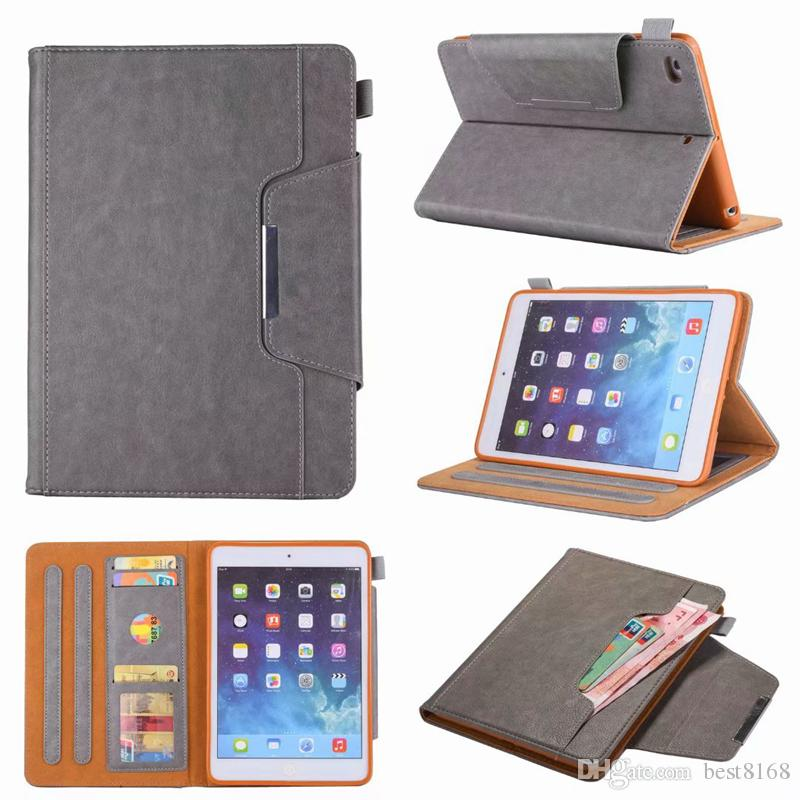 Pour iPad Mini 1 2 3,4, Ipad 2 3 4 5 6 2 Air 9.7 '', 2017 2018 Portefeuille en cuir PU luxe Bling Cash Money Card Pocket Fente Housse Etui