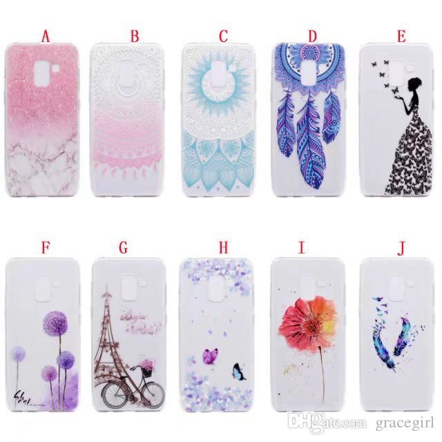 Custodia morbida Mandala Flower Bike Girl TPU Samsung Galaxy 2018 A7 A5 Huawei Mate10 Pro Lite Y7 2017 Godetevi 7 Honor 7X 5X Fashion Marble Cover