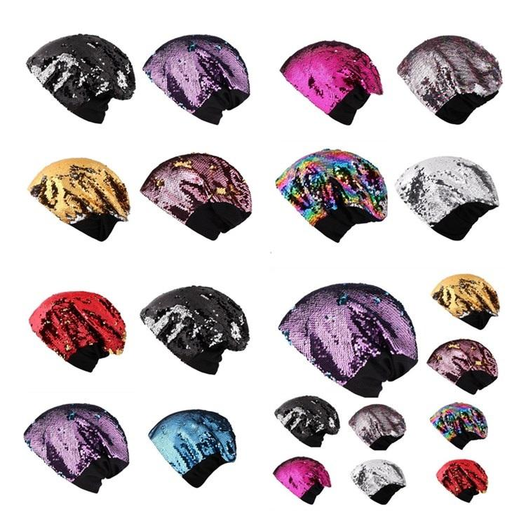 5f237a1e4f0 Hot European And American Sequins Ladies Knitted Party Hat Leisure Keep  Warm Ear Protection Head Cap Factory Direct Sale Wholesale T7I351 Pink  Birthday Hats ...