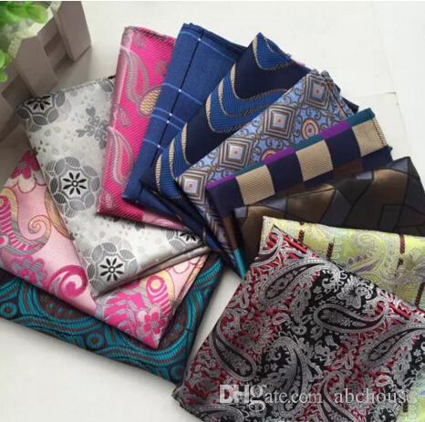 3412d7a522588 Men Pocket Square Handkerchiefs Wedding Party Fashion Paisley Hanky Paisley  Silk Suit Tie Handmade Handkerchief Stripes Plaids Dots Men Pocket Square  ...