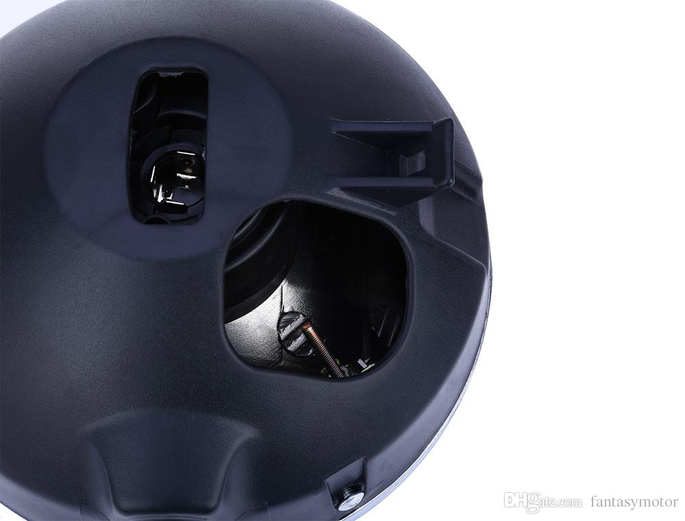 12V Motorcycle Round Headlight Modified Headlamp Assembly for Honda Bumblebee CB400 / 900 Motorcycle Round Head Light Halogen Headlight Lamp