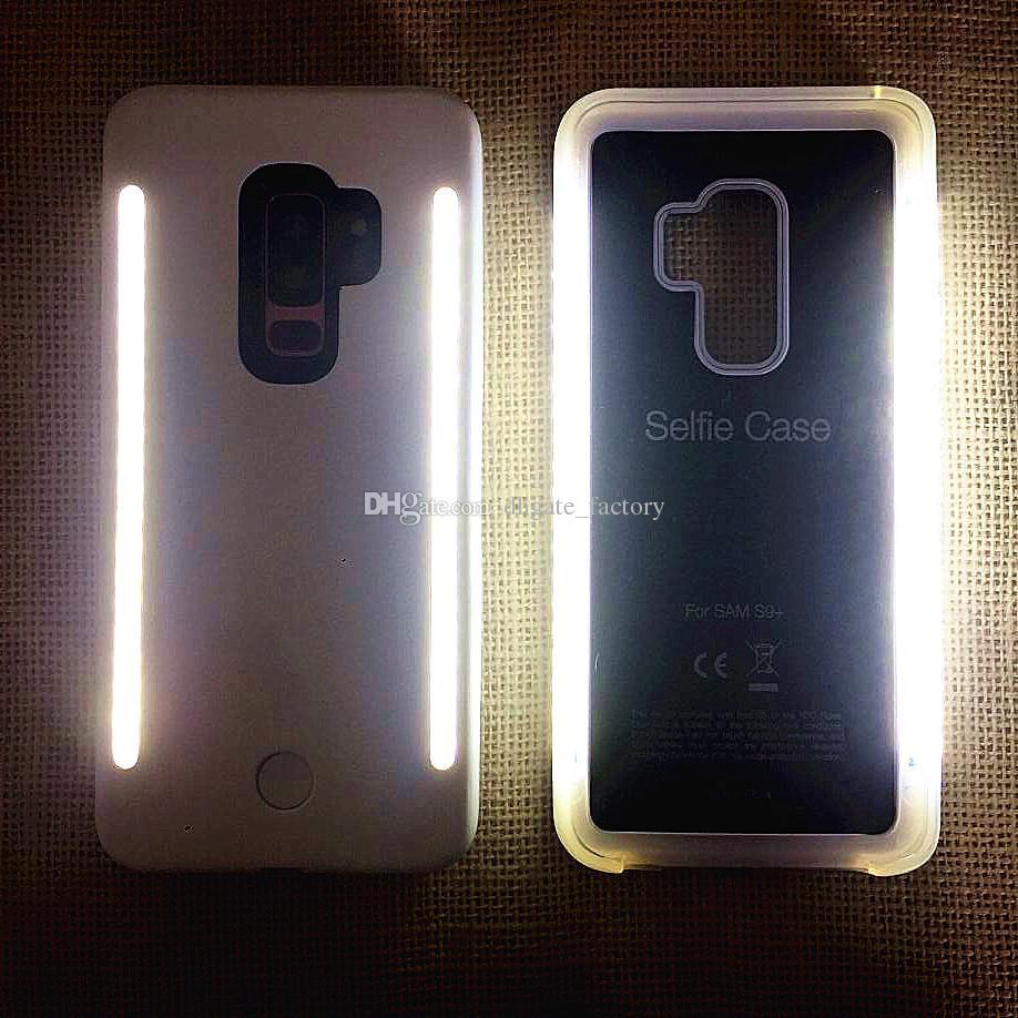 timeless design 47675 11496 NEW Fill light Selfie LED Light phone Cases Phone Double Sides Light Selfie  artifact For iphone X 8 7 7s Sansung S9 s9 plus S8 S8 plus