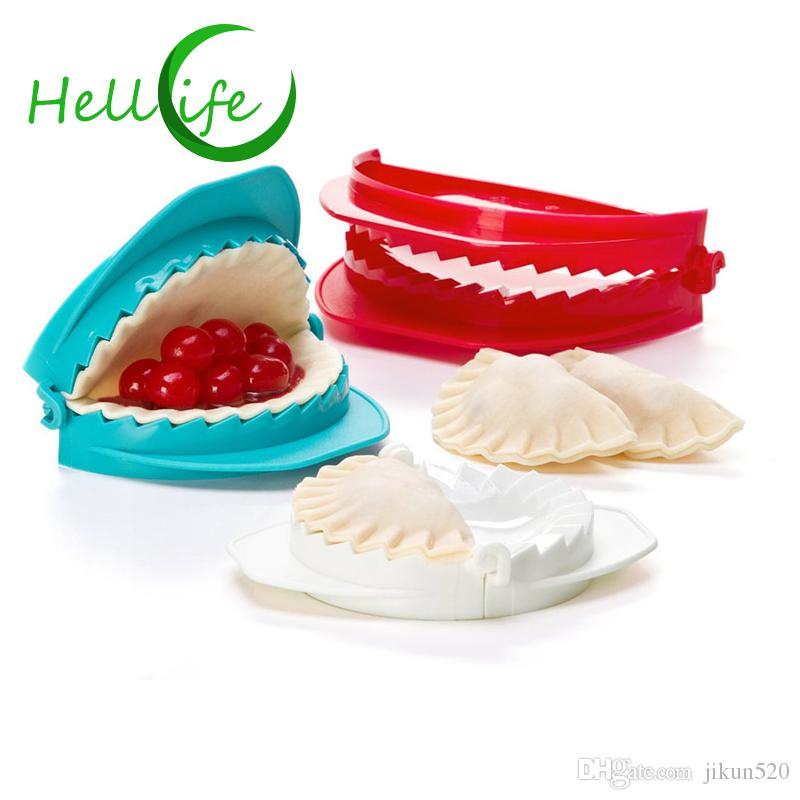 HELLOLIFE Set of 3 Dumpling Maker Press Ravioli Dough Cutter Pastry Pie Gyoza Mold Wrapper 3 Size Easy Dumpling Mould BPA Free