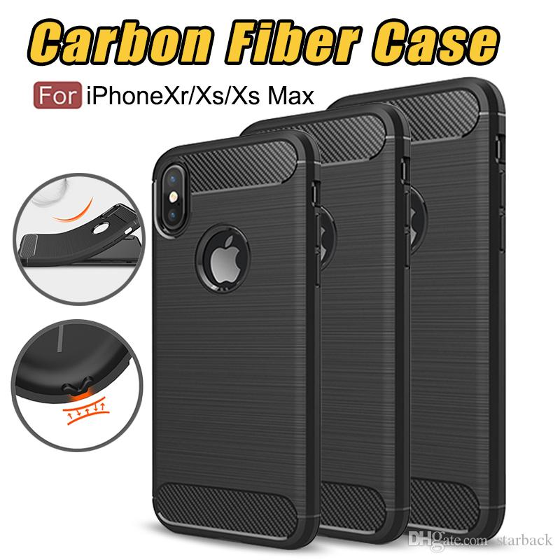 Rugged Armor Case for iPhone XR iPhone X iphone XS Max Samsung Galaxy Note 8 S8 S9 Plus S7edge Anti Shock Absorption Carbon Fiber Design
