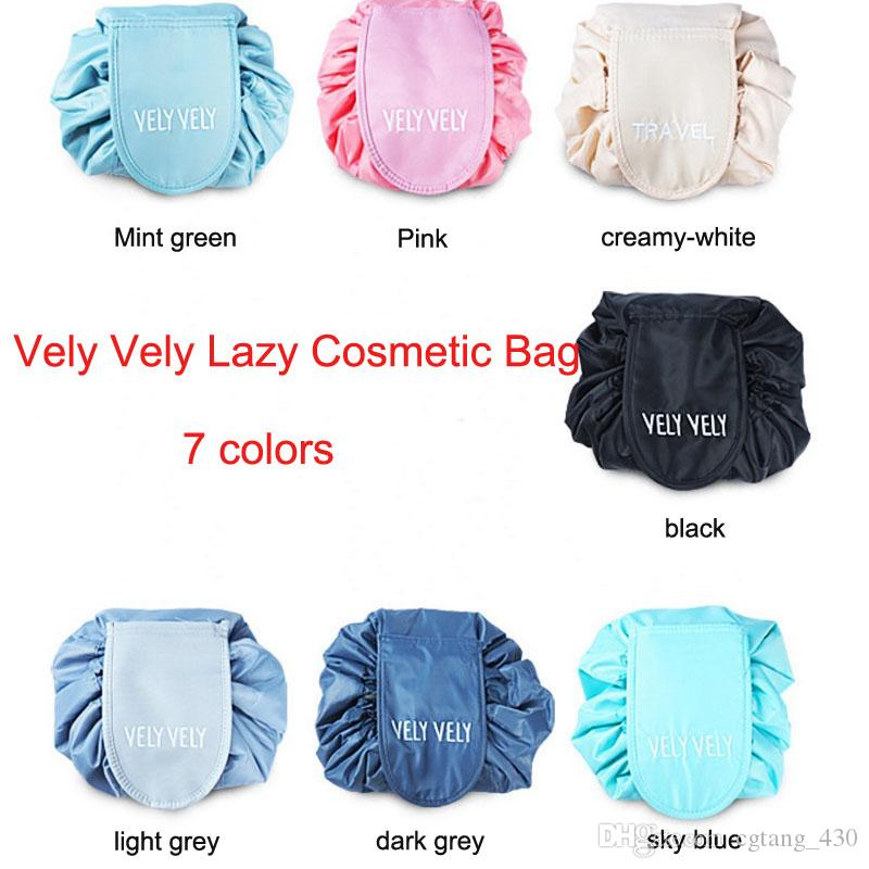 aec0fd310695 Vely Vely Lazy Cosmetic Bag Drawstring Wash Bag Makeup Organizer ...